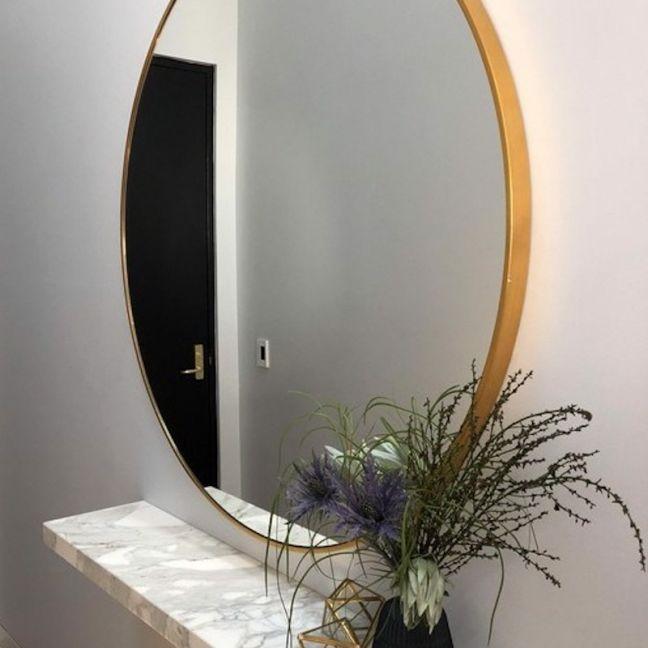 Modern Round Stella Mirror | Brass 120cm