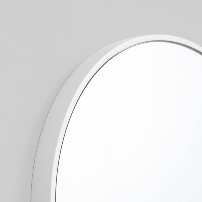 Modern Round Stella Mirror | Gloss White