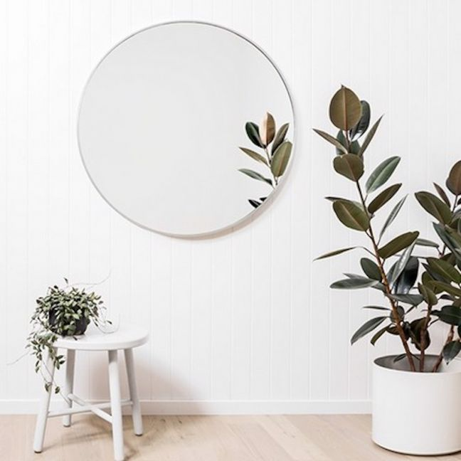 Modern Round Stella Mirror   Silver 120 cm