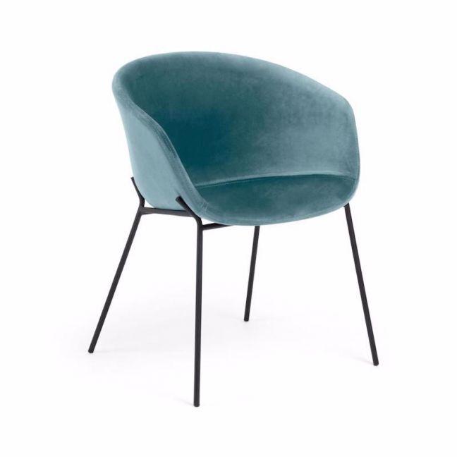 Modine Dining Chair   Ocean Blue Velvet   CLU Living