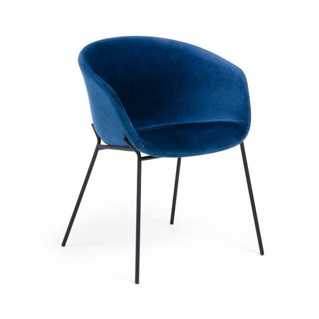Modine Dining Chair | Royal Blue Velvet | CLU Living