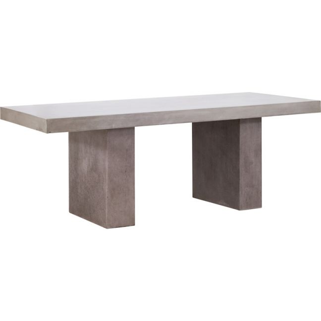 Molina 200cm Concrete Dining Table | Dark Grey | Schots