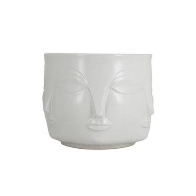 Mona Face Planter Small | White | CLU Living