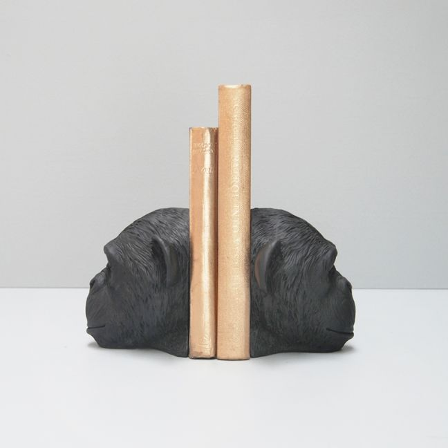 Monkey Bookends | Black | White Moose