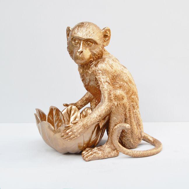 Monkey Bowl   Gold   White Moose