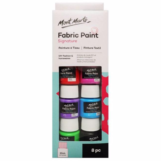 Mont Marte Paint Set   Fabric Paint   8pc x 20ml