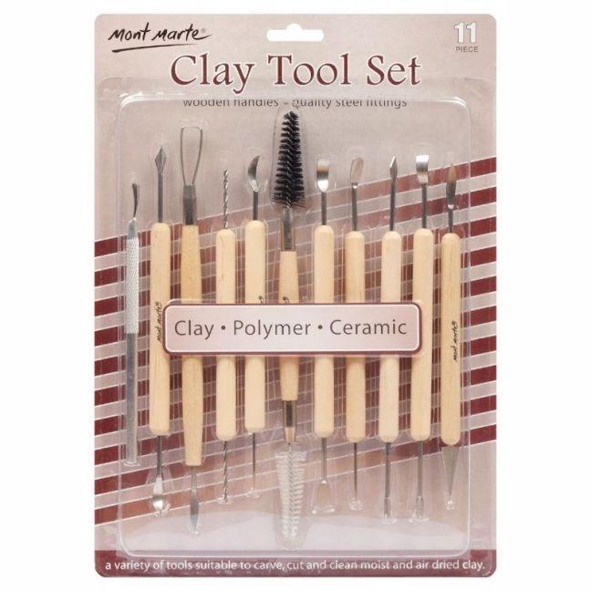 Mont Marte Sculpting   Clay Tool Set 11pc