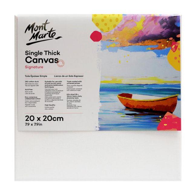 Mont Marte Studio Canvas Single   Thick   20 x 20cm