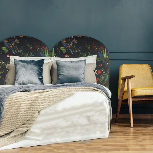 Moody Rosella Velvet Upholstered Bedhead   All Sizes   Custom Made by Martini Furniture