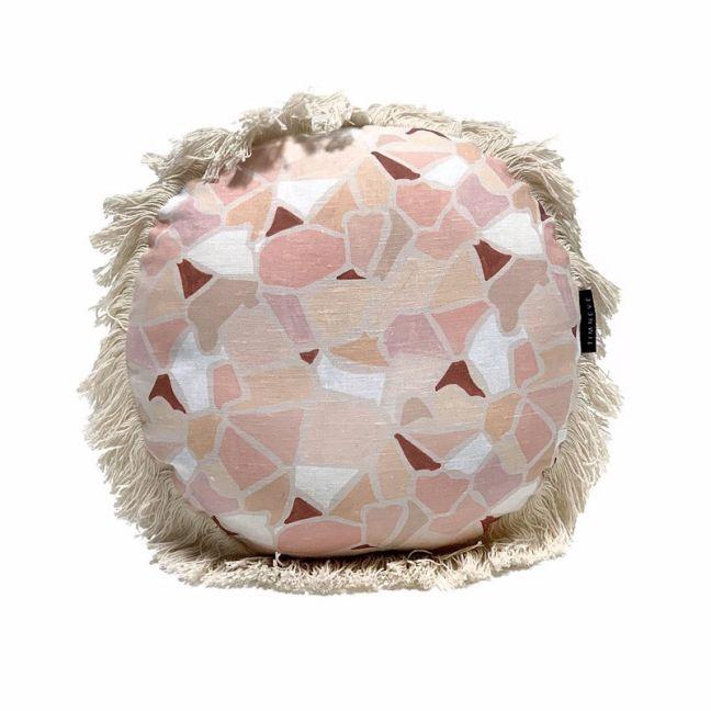 Mosaic Round Cushion   Earth