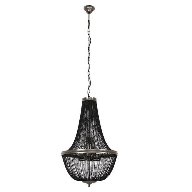 Moselle 6 Light Chandelier in Black | By Beacon Lighting