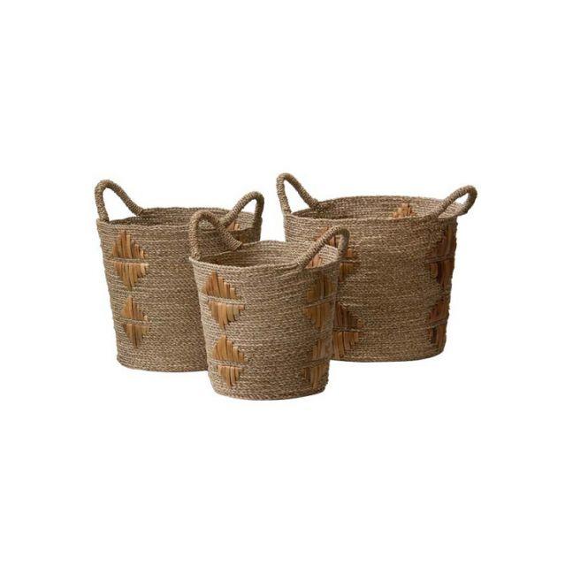 Motif Baskets in Natural by SATARA