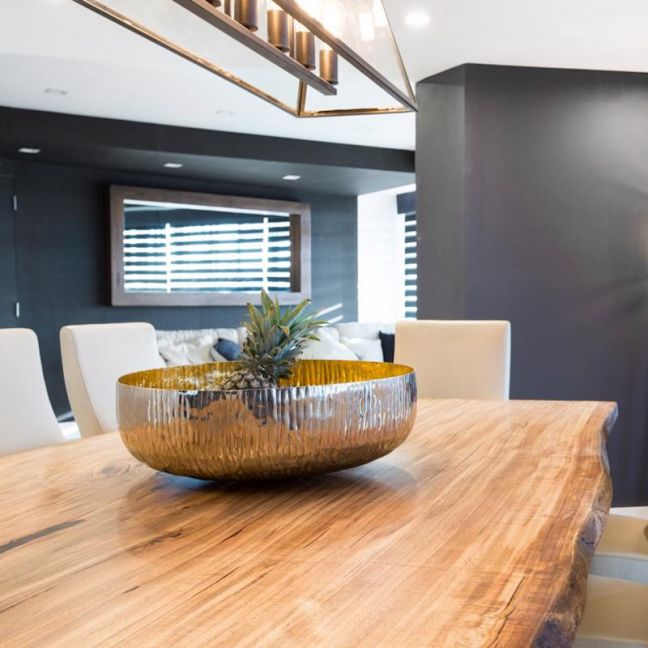Mountain Ash Slab Top Dining Table | by Christian Cole