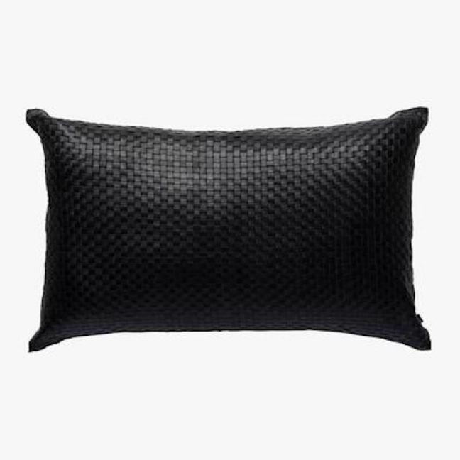 Nappa Rectangle Cushion   Black