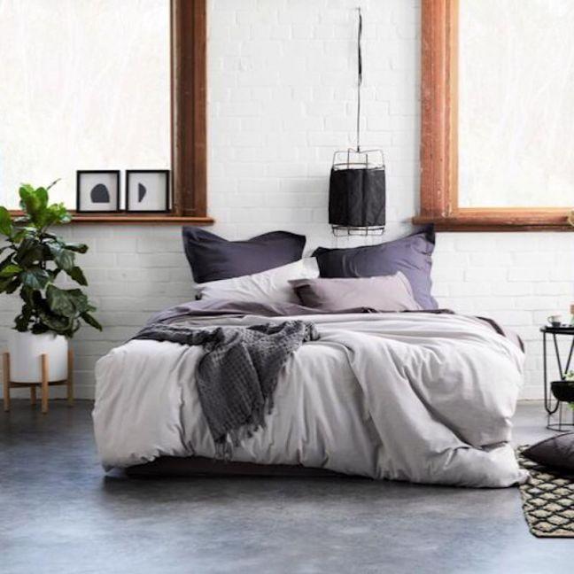Natal Linen/Cotton Quilt Cover Set | Silver Grey