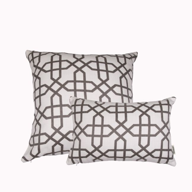 Naxos Grey | Sunbrella Fade & Water Resistant Outdoor Cushion | Outdoor Interiors