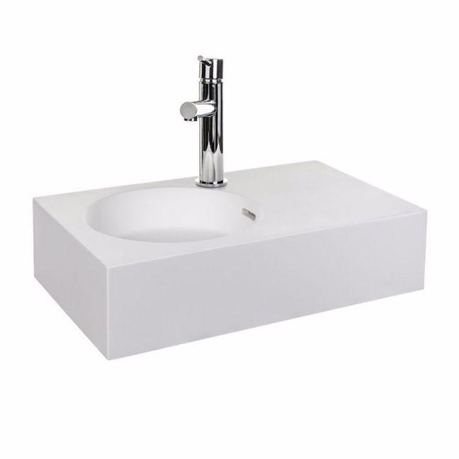 Neo Mini Solid Surface Wall Basin | Reece