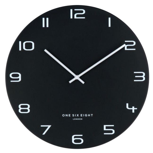 Nero Black 60cm SILENT Wall Clock