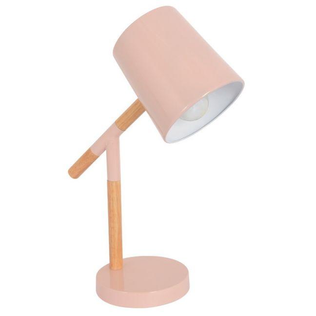 Neva 1 Light Table Lamp in Blush/Natural
