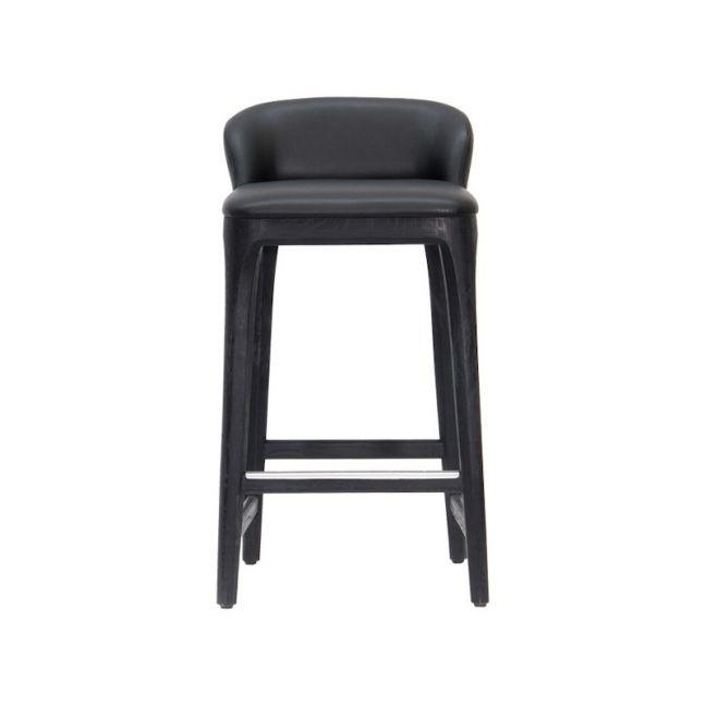 New York Kitchen Stool in Black Oak by SATARA
