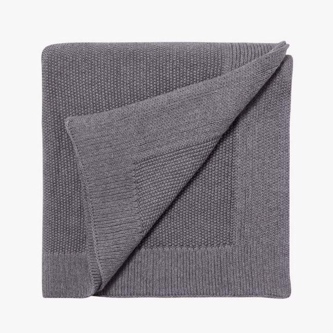 Nico Knit Blanket   Smoke   Large