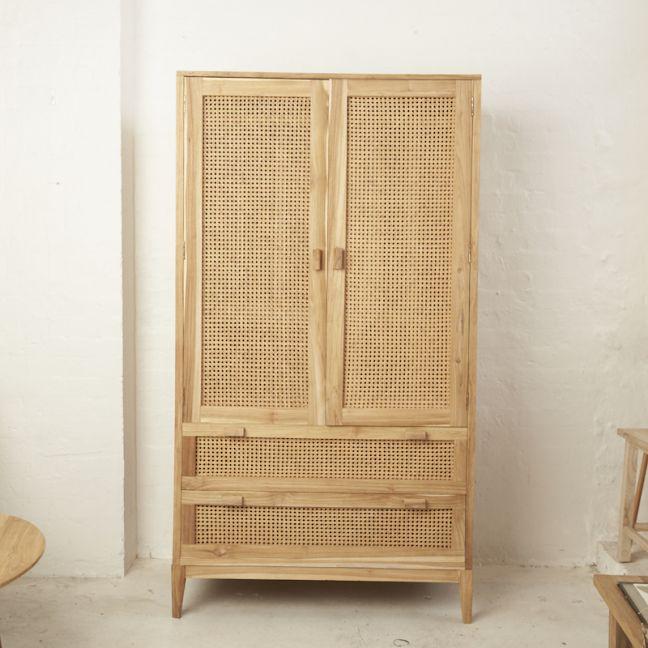 Nilsen Rattan and Teak Wardrobe l Custom Made