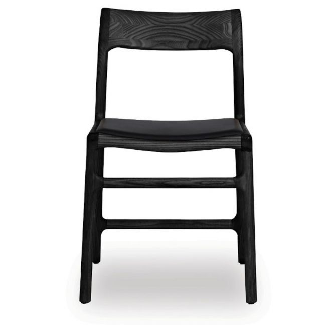 Nora Scandi Timber Dining Chair | Black American Ash w Black Pad