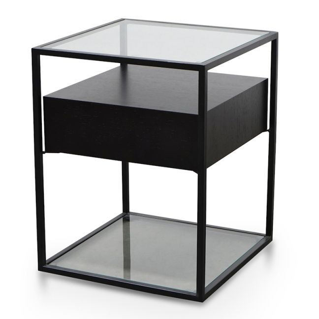 Norman Scandinavian Side Table | Full Black