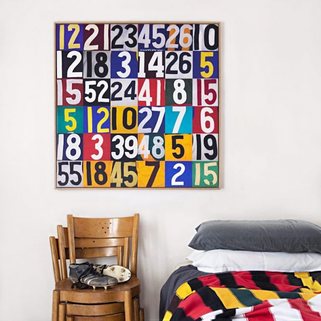 Numbers Collage Canvas