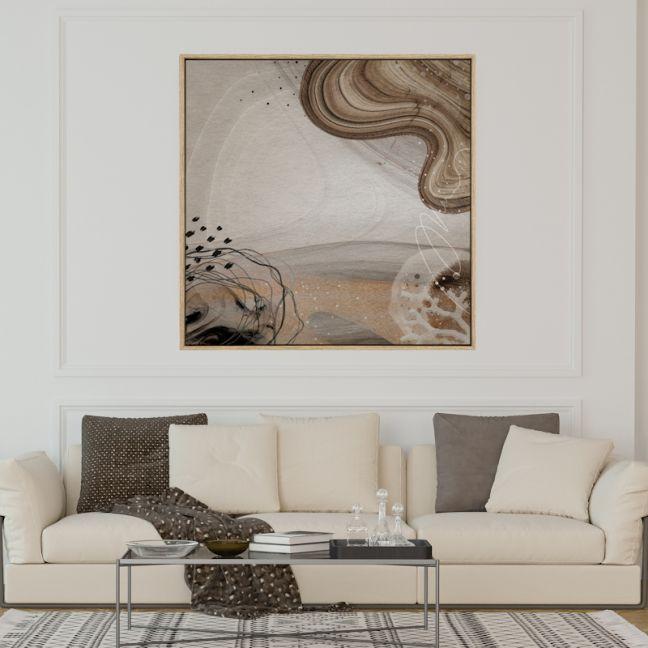 Ocean Waves   Drop Shadow Framed Art