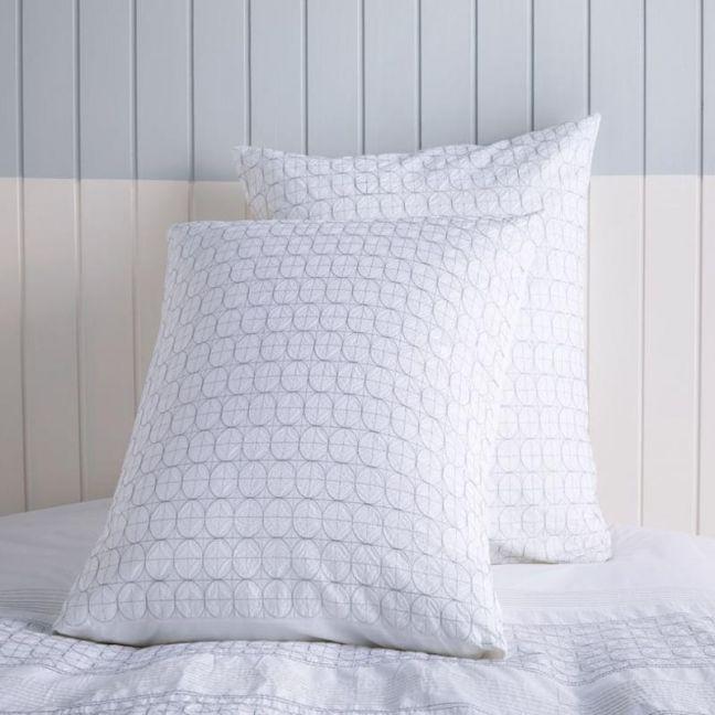Odette Euro Pillowcase White by Kas Australia