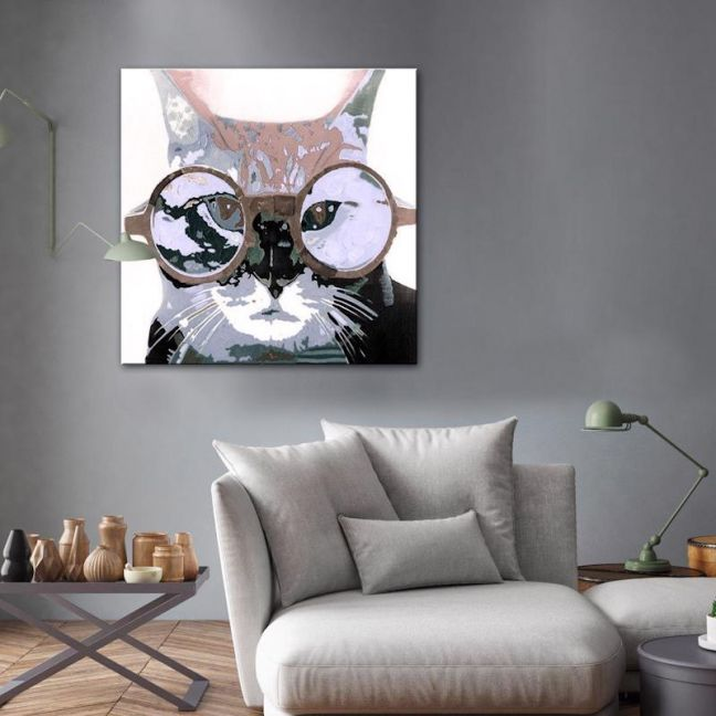 Oh Pussy Cat 2 | Hand Painted Artwork by United Artworks