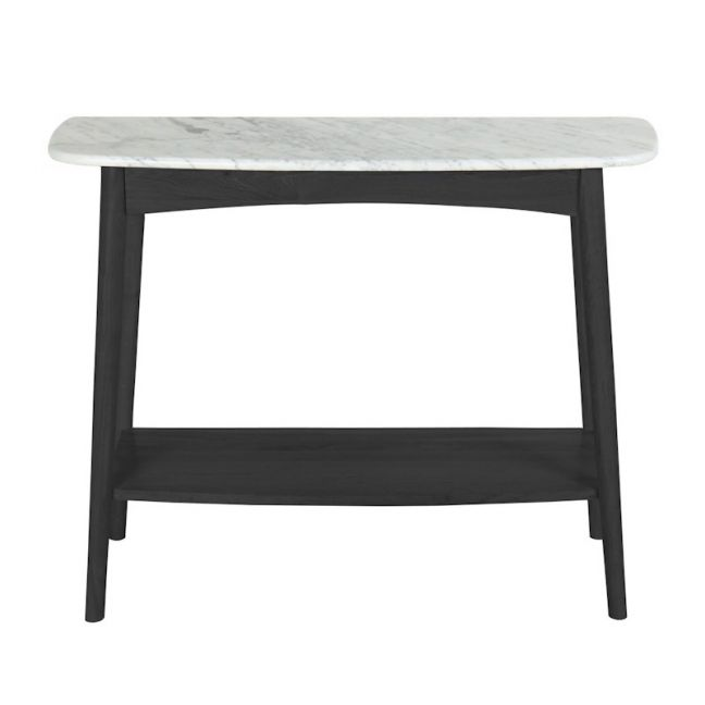 Oia White Marble Console Table