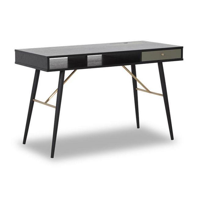 OMARI Study Desk 117cm - Black & Green