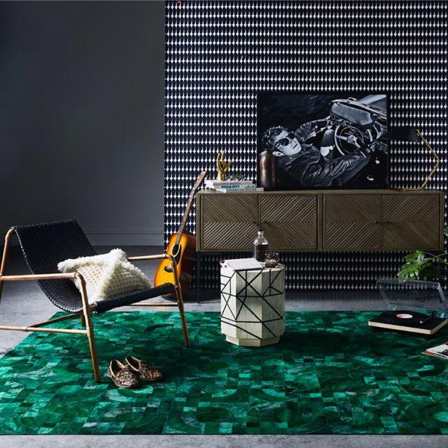 Optico Rug | Forrest Green | by Art Hide