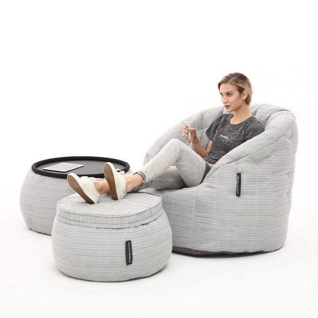 Outdoor / Indoor Contempo Designer Set by Ambient Lounge | Silverline