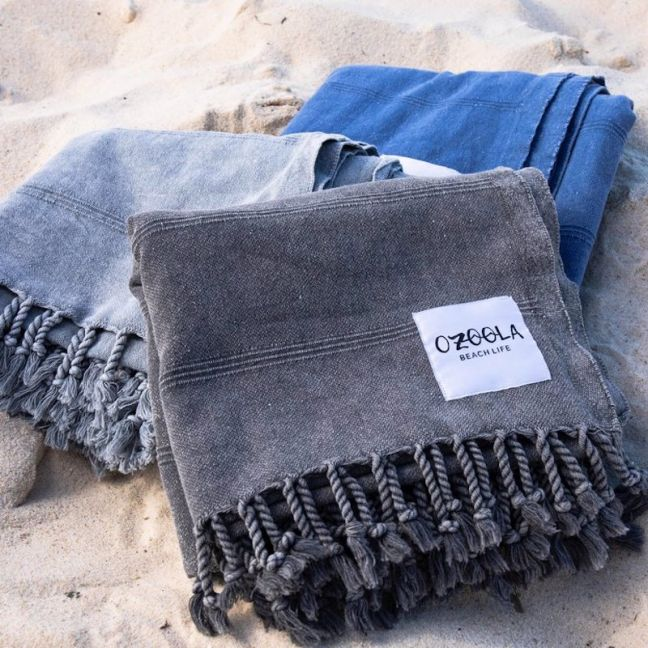 OZoola Stonewash Turkish Towel