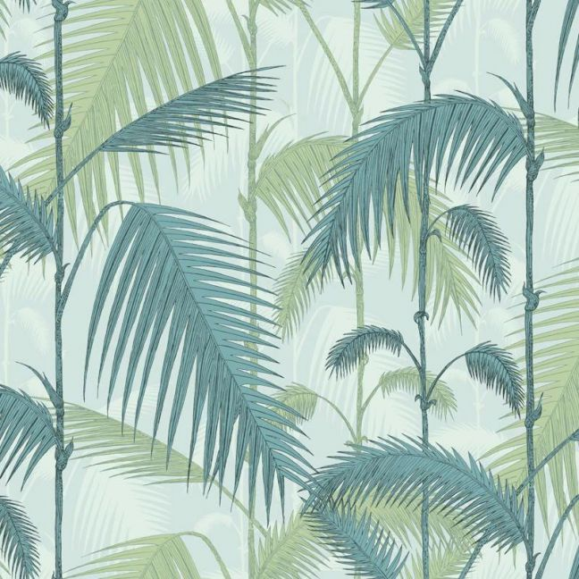 Palm Jungle wallpaper | Forest Green on White