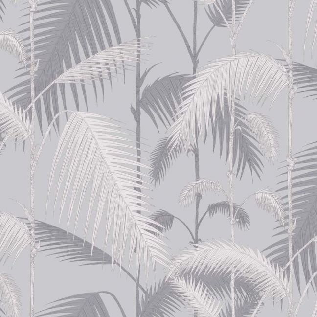 Palm Jungle wallpaper - Lilac Grey