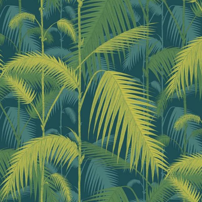 Palm Jungle wallpaper - Petrol & Lime