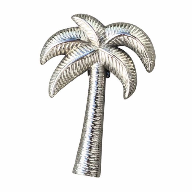 Palm Tree Door Knocker | Silver Finish | Pineapple Traders