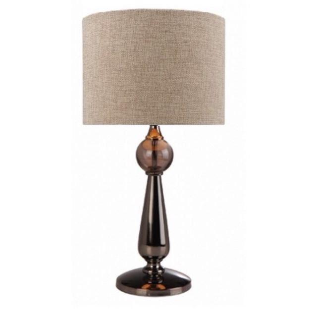 Parker Deluxe Table Lamp & Shade | Black Chrome
