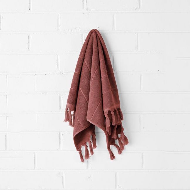 Paros Hand Towel | Mahogany by Aura Home