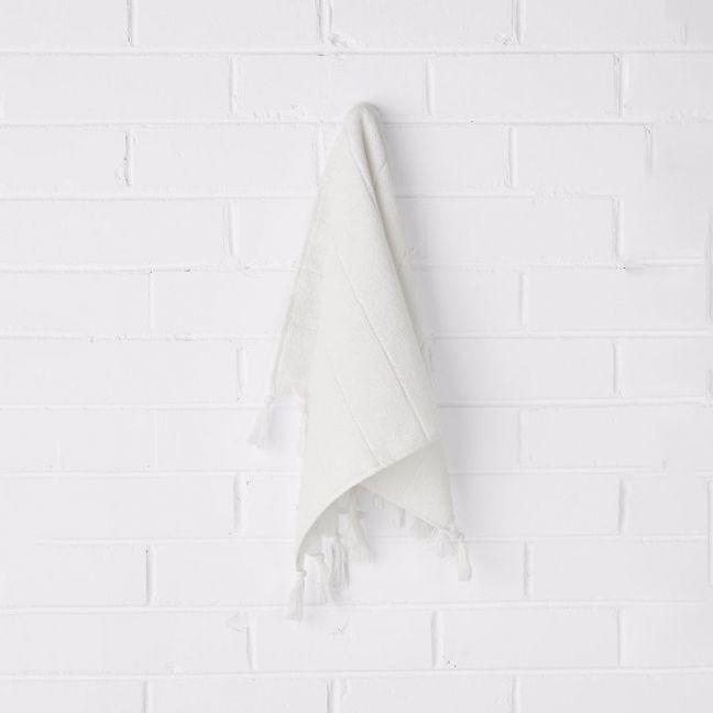 Paros Hand Towel   White Wash   by Aura Home