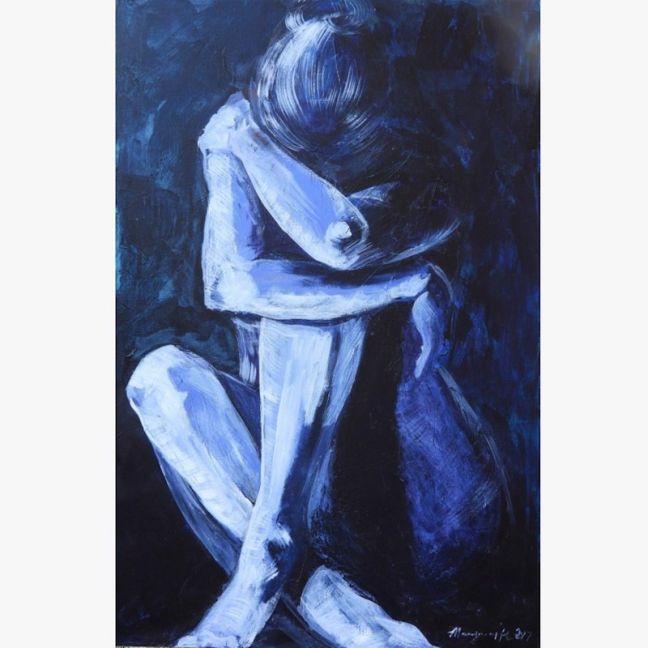 Paynes Grey Lady No 7 by Marguerite Bonwick   Ltd Edition Canvas Print   Art Lovers Australia