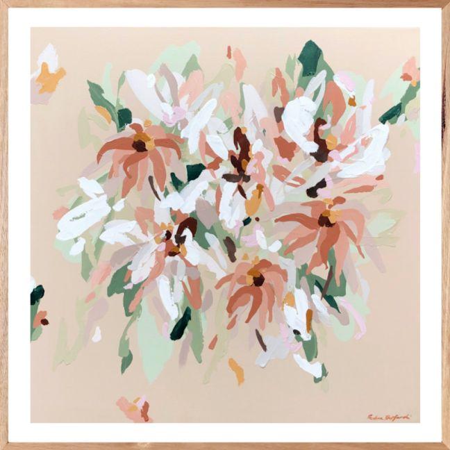 Peachy Blooms | Fine Art Print | Framed or Unframed | Prudence De Marchi