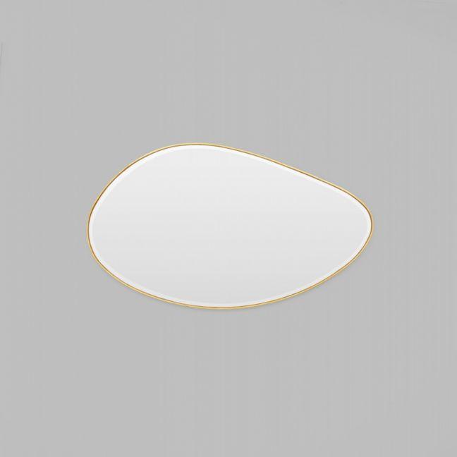 Pebble Brass Mirror - 120 x 70cm