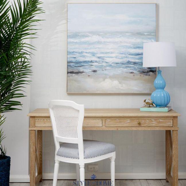 Pebbly Beach   Canvas   Natural Frame
