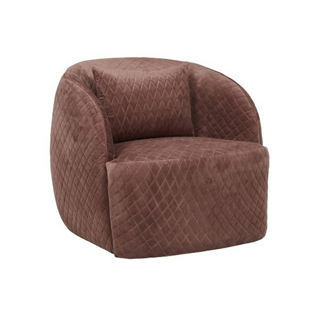 Penelope Quilted Occasional Chair | Pre Order | Dust Berry Velvet