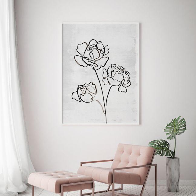 Peony Romance | Floral Art Print | Framed or Unframed